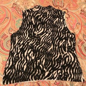 Dana Buchman Tops - Dana Buchman Zebra Print Sweater Tank Top